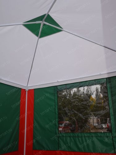 Шатер 3*3 м. бело-красно-зеленый