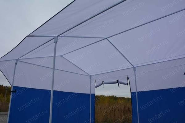 Торговая палатка РЯД 4*3 бело-синяя 4