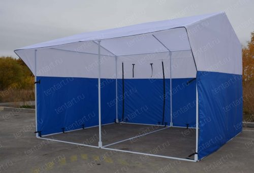 Торговая палатка РЯД 4*3 бело-синяя