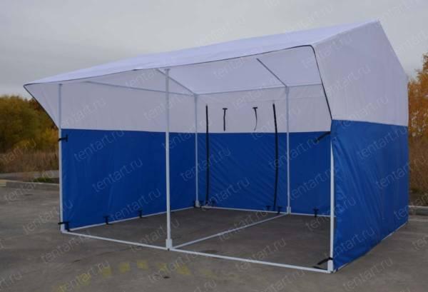 Торговая палатка РЯД 4*3 бело-синяя 1