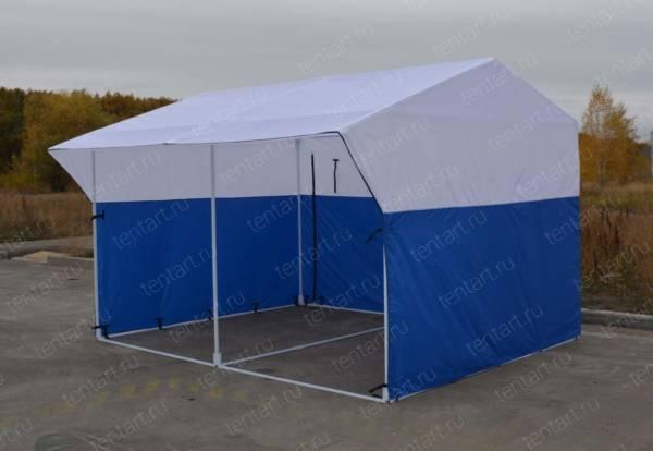 Торговая палатка РЯД 4*3 бело-синяя 3