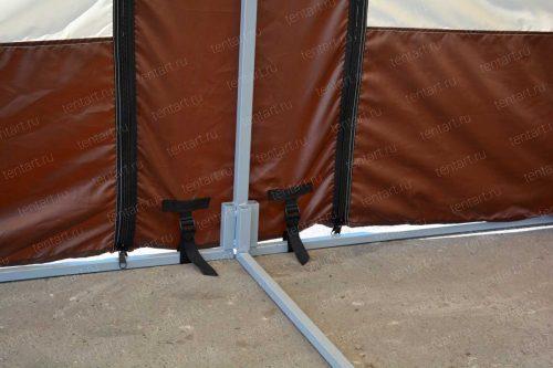Шатер 6*4 ТоргЭлит бежево-коричневый