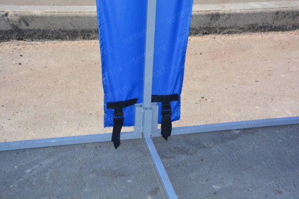 Шатер павильон 6*4 синий (без стенок) 2