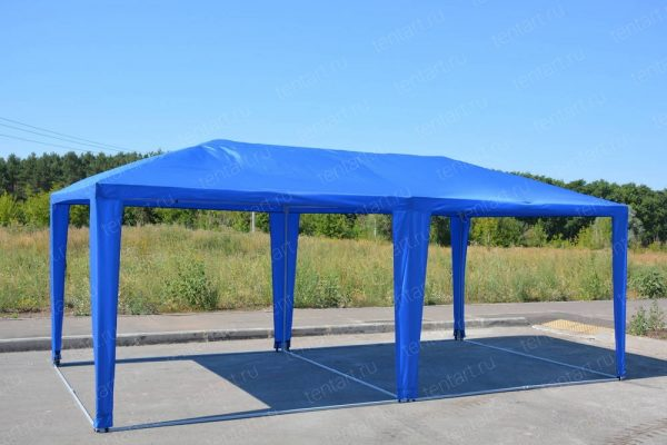 Шатер павильон 6*3 синий (без стенок)